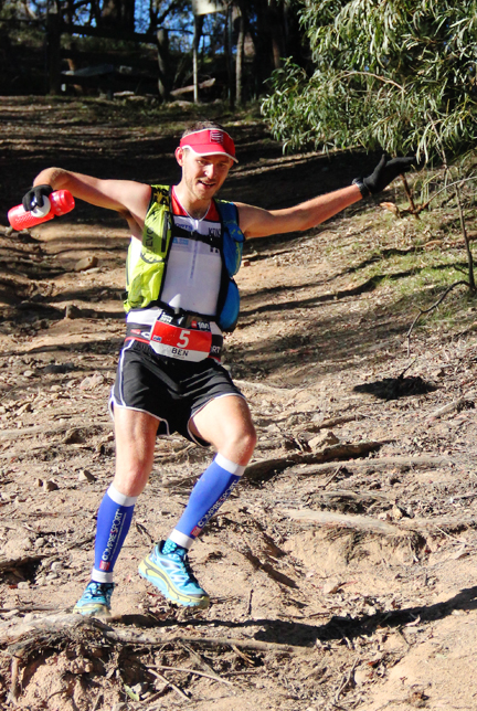 Ben running in the TNF100 in the Blue Mountains 2014